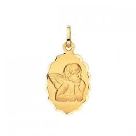 Pendentif enfant - Médaille ange ovale