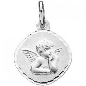 Pendentif enfant - Médaille ange losange