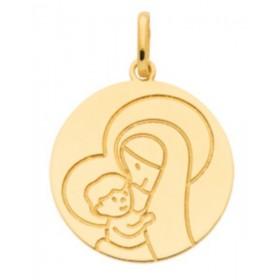 Pendentif enfant - Médaille vierge et l'enfant