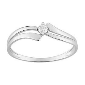 Solitaire, diamants, or blanc.