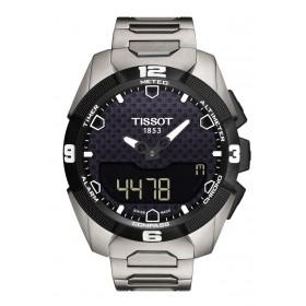 Montre tactile, T-touch Expert Solar, titane.