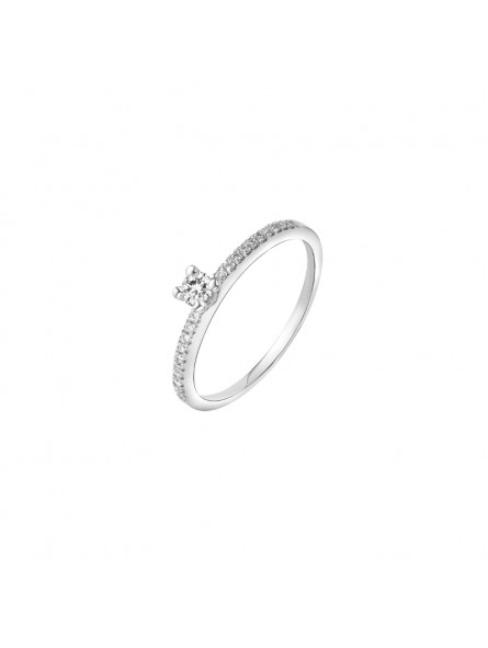 SOLITAIRE ACCOMPAGNE CENT 0,09 CT ACCOMP 0,09 CT OR BL