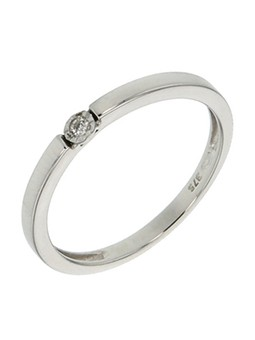 SOLITAIRE DIAMANT 0,02 CT HP1 SERTI CLOS OR BLANC